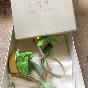 Brand New Charlotte Olympia green sandals 38
